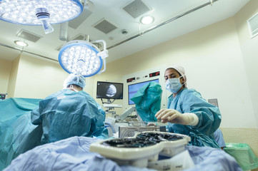 Group of doctors working in surgery