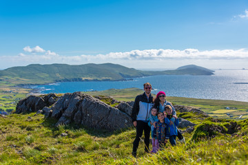 Family at the Ring of Kerry