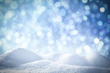 winter background and free space for your decoration
