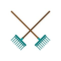 Rakes crossed symbol icon vector illustration graphic design