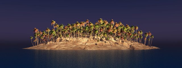 Insel mit Palmen