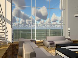 Luxuriöse Wohnung mit hohem Fenster