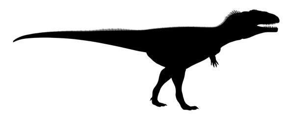 Silhouette eines Dinosauriers