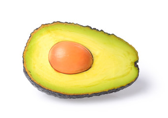 Avocado isolated on a white background. Full depth of field with clipping path.