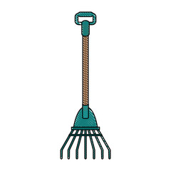 Rake gardening tool icon vector illustration graphic design