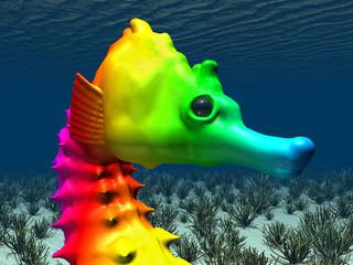 Seepferdchen mit Farben