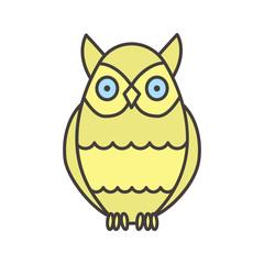 Owl color icon