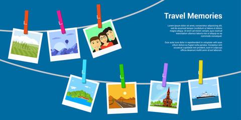 Travel memories concept