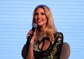 Ivanka Trump, daughter of U.S. President Donald Trump, speaks during the Global Entrepreneurship Summit (GES) in Hyderabad