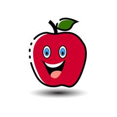 Fruit Cartoon apple Mascot Character
