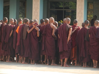 buddhist monks in Lawkananda Paya, Bagan, Myanmar