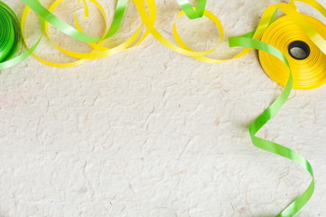 Yellow and green ribbon stripes