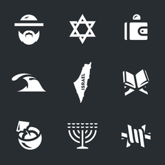 Vector Set of Israel Icons.