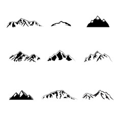 Collection of vintage mountain design elements