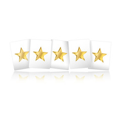 Gold Stars On Cards