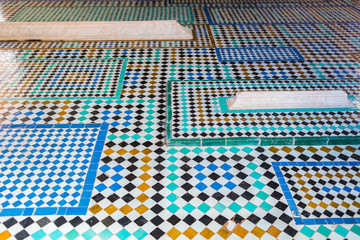 colorful mosaic of moroccan tiles