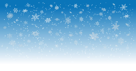 Winter Snow Vector Cosy Background Detailed 3d