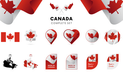 Canada complete set. Vector illustration.