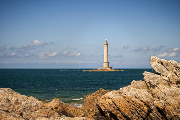 Phare de Goury (Lighthouse) on the Cap de La Hague, Auderville, Basse Normandy, France