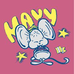 Navy sailor mouse