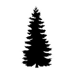 tree silhouette black on white background