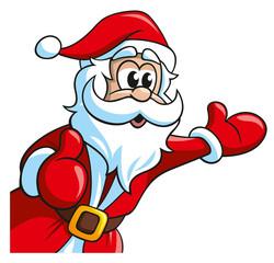 Weihnachtsmann ist erstaunt