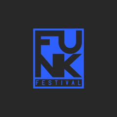 Funk festival in the grunge style of word funk music. Musical typography, t-shirt text print emblem, poster, banner, club party flyer