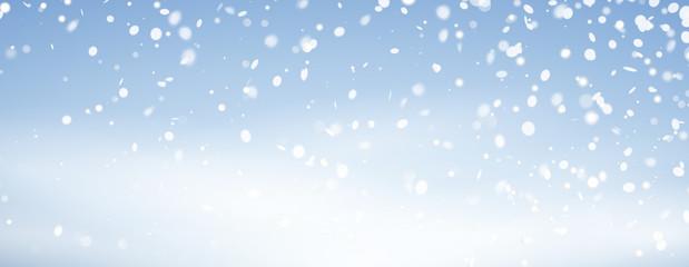 Schneefall Banner Hintergrund