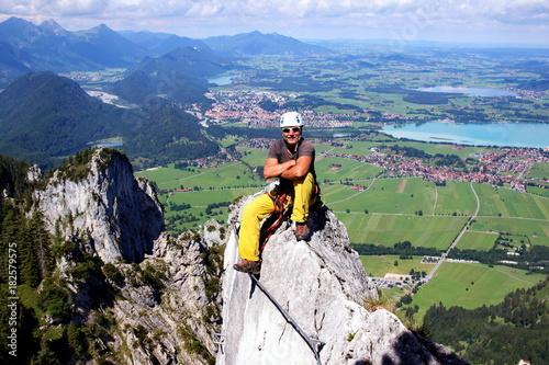 Klettersteigset Xxl : Salewa set via ferrata ergo zip silver royal blue klettersteigset