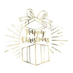 Hand drawn Christmas present background