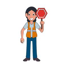 Construction worker avatar cartoon icon vector illustration graphic design