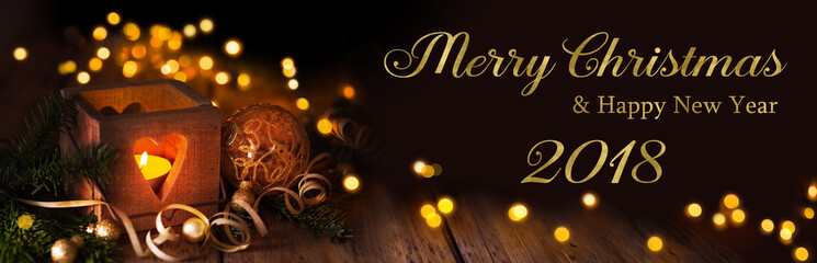 Christmas and new year greeting card 2018