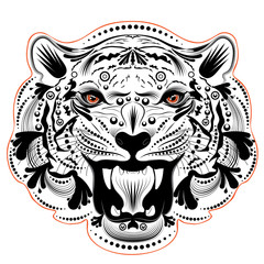 Ornamental Tiger Portrait
