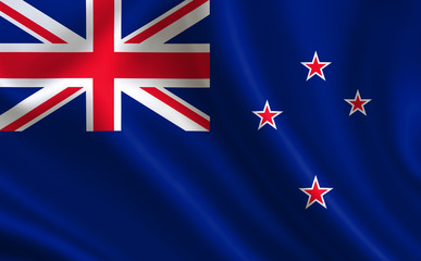 "New Zealand flag. A series of ""Flags of the world.""  ( The country - New Zealand flag )"