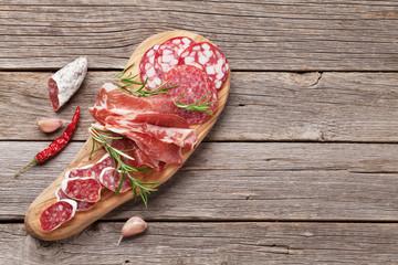 Salami, sliced ham, sausage, prosciutto