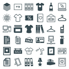 Set of 36 blank filled and outline icons