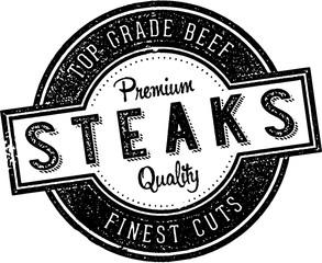 Vintage Steaks Restaurant Sign