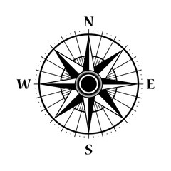 Wind rose compass  vector symbol.Compass Icon  design element