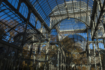 Crystal Palace of the Retiro Park in the city of Madrid