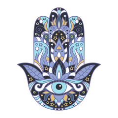 Hamsa on a white background.