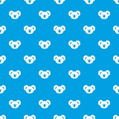 Koala pattern seamless blue