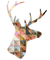 Watercolor deer illustration.