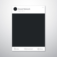Social network post frame template. Vector illustration