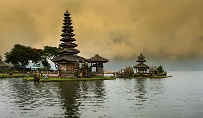 Pura ulan danu bratan temple the hindu temple in Bali Island ,Indonesia