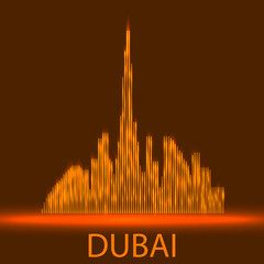 Technology image of Dubai. The concept vector illustration eps10