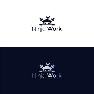 Vector ninja head mascot logo