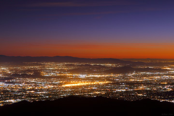 Night falls on San Bernardino county