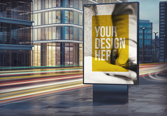 Outdoor Kiosk Advertisement Mockup 4