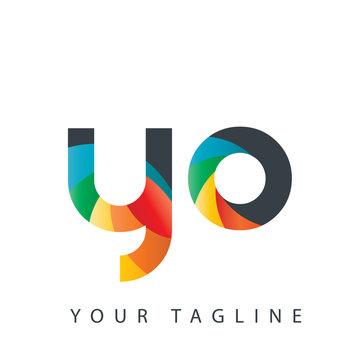 Initial Letter YO Design Logo