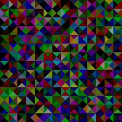 Geometrical abstract triangle mosaic pattern background - vector graphic from triangles in dark color tones